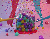 C4D创意小球