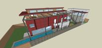复式住宅SU模型