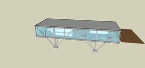 金属质感集装箱住宅SU模型