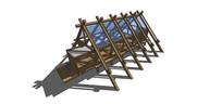 木架构建筑SU模型