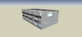 住宅建筑石头铺砖SU模型