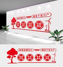 大气简洁社区文化墙设计