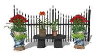 花园盆栽植物