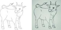 简笔画-牛