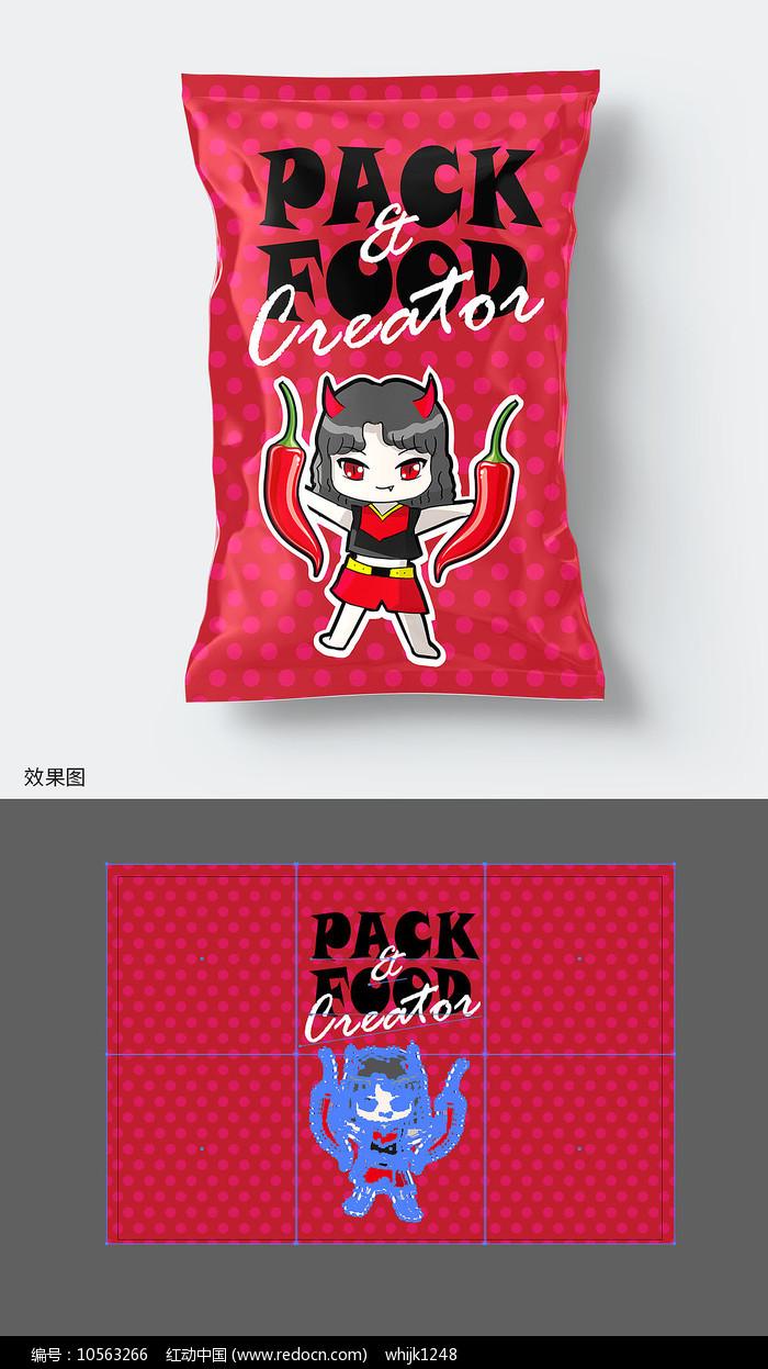 辣味休闲食品包装袋图片