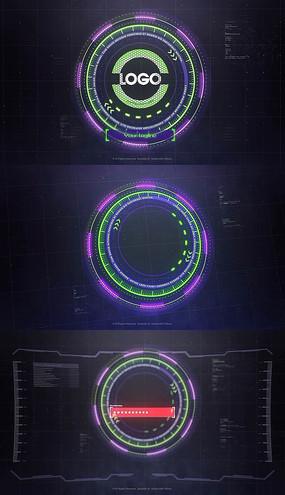 科技显示界面输入密码logo片头pr模板