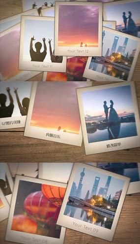 浪漫方形照片回忆婚礼家庭旅行相册pr模板