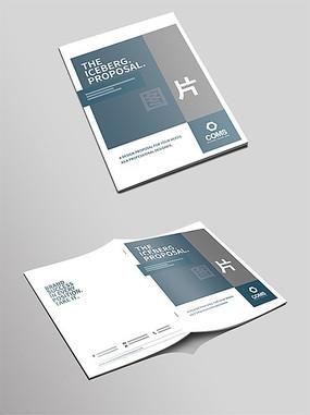 简洁大气企业宣传画册封面模板