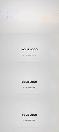简约光效LOGO演绎AE模板