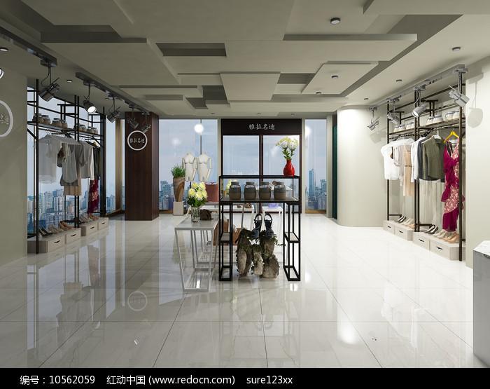 服装店3Dmax模型图片