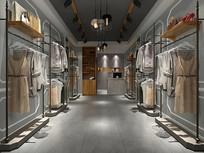 現代服裝店室內場景模型