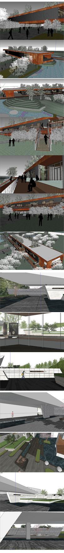 园林建筑设计模型