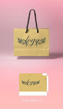 金色大气高端手提袋纸袋