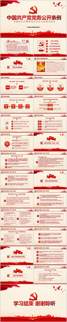 中国共产党党务公开条例解读PPT