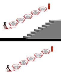 楼梯间文化展板