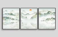 远山云海日出室内装饰画
