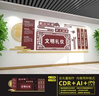 传统文化文明礼仪文化墙