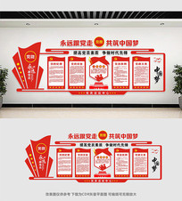 大气共筑中国梦党建文化墙