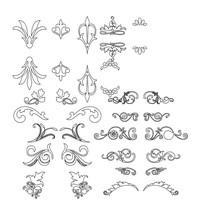 CAD欧式雕花图案