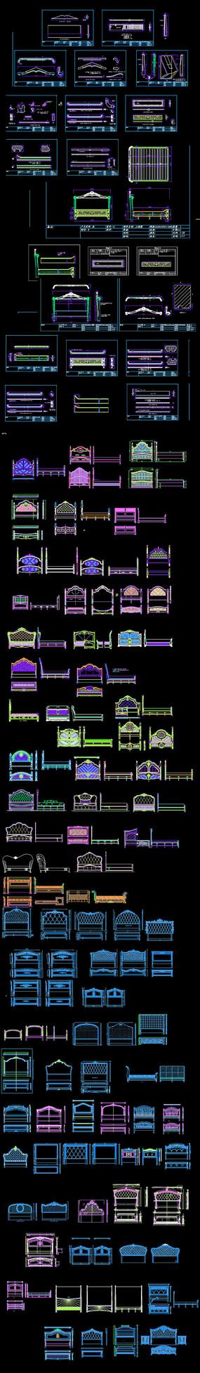 欧式床CAD图