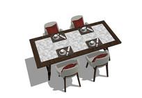 欧式轻奢餐桌椅