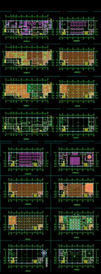 食堂室内设计平面图