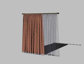 su布艺窗帘模型