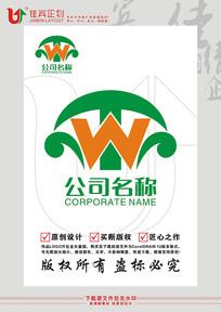 WT英文字母沙发家具标志设计