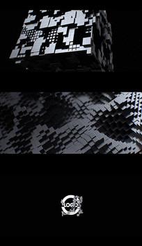 暗黑金属立方体电影logo片头PR模板