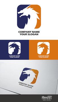 时尚大气傲龙企业Logo设计AI矢量图