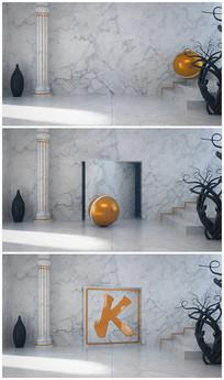 简洁室内logo演绎视频模板