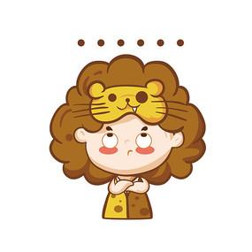 原创狮子座卡通人物