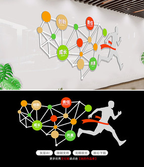 原创企业楼道文化墙设计