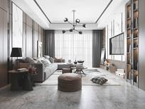 现代  客厅  后现代