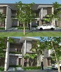 现代联排公寓
