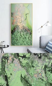 新中式现代轻奢艺术抽象玄关晶瓷画