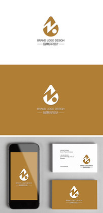 ZK组合创意字母logo标志设计