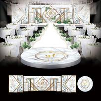 大理石简约婚礼背景