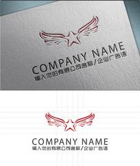 飞舞星星logo标志设计