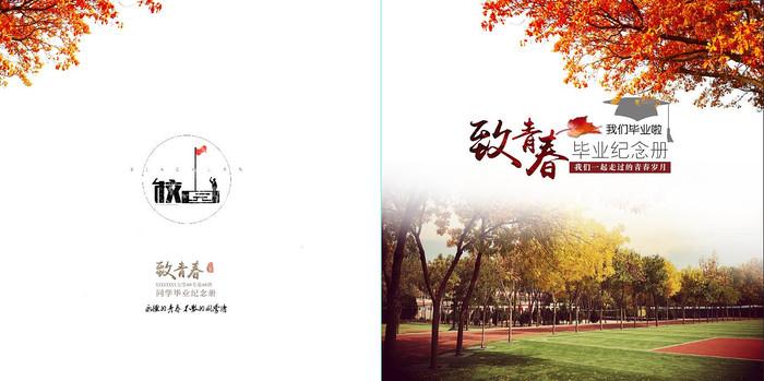 致青春毕业纪念册设计封面