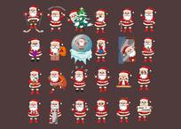 24款原创圣诞老人表情动作设计