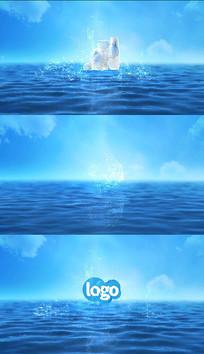 产品LOGO跳出水面溅起水花视频模板