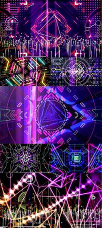 动感LED舞台dj舞曲背景视频素材