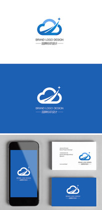 5G科技云IT电子科技蓝色标志logo