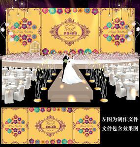 浪漫花卉婚礼背景设计
