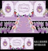 浪漫紫色婚礼背景设计