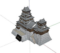 日本古建筑熊本城三维模型