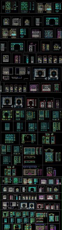 新中式博古架CAD图库