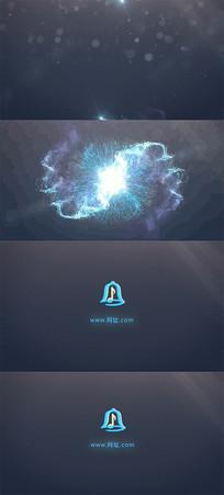 震撼大气光效粒子能源标志LOGO展示视频模板