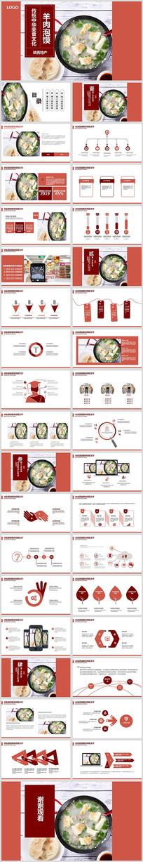 美食文化羊肉泡馍传统特色餐饮PPT模板